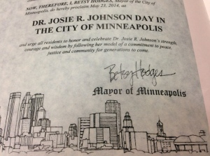 Dr. Josie Johnson Proclamation