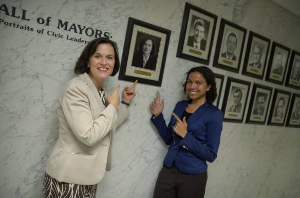 Mayor Hodges and Cara, her Step-Up Intern