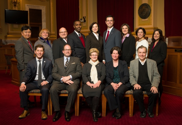 Mayor Hodges and the City Council at inauguration